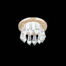Светильник Gauss Brilliance PT002, Кристалл/Золото, Gu5.3 1/30