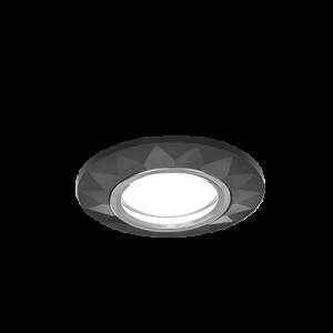 Светильник Gauss Mirror RR006 Гран.Кристал черный/Хром, Gu5.3 1/50