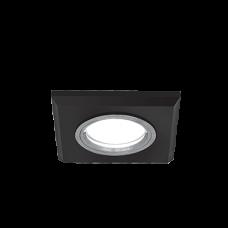 Светильник Gauss Mirror RR010 Квадрат. Кристал черный/Хром, Gu5.3 1/50