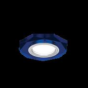 Светильник Gauss Mirror RR015 Восемь гран. Кристал синий/Хром, Gu5.3 1/50