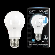 Лампа Gauss LED A60 10W E27 4100K step dimmabl