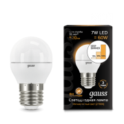 Лампа Gauss LED Globe E27 7W 2700K step dimmable