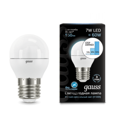 Лампа Gauss LED Globe E27 7W 4100K step dimmable
