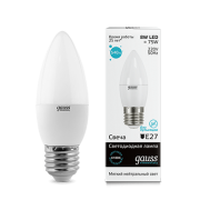 Лампа Gauss LED Elementary Candle 8W E27 2700K