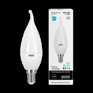 Лампа Gauss LED Elementary Candle Tailed 8W E14 4100K
