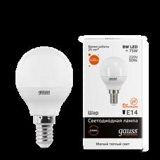 Лампа Gauss LED Elementary Globe 8W E14 2700K