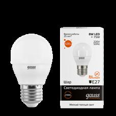 Лампа Gauss LED Elementary Globe 8W E27 2700K