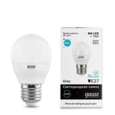 Лампа Gauss LED Elementary Globe 8W E27 4100K